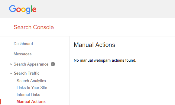 google manual actions